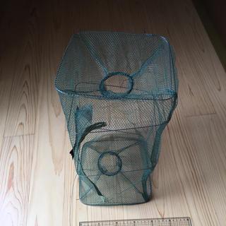 魚獲り網 折り畳み式 カニ、亀、魚 捕獲 捕獲器 漁 海 川 淡水 籠型 カゴ型(釣り糸/ライン)