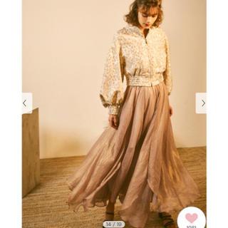 リリーブラウン(Lily Brown)の新作新品未使用✨光沢シースルーフレアスカート(ロングスカート)