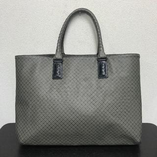 ボッテガヴェネタ(Bottega Veneta)のボッテガヴェネタ ビジネスバッグ マルコポーロ グレー PVC(ビジネスバッグ)