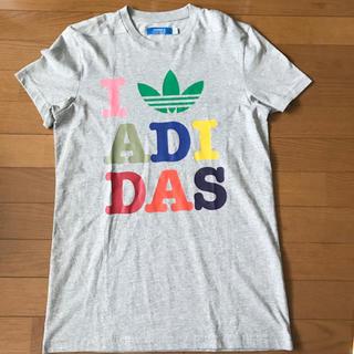 アディダス(adidas)の★未使用★adidas オリジナルス Tシャツ グレー Lサイズ メンズ(Tシャツ/カットソー(半袖/袖なし))
