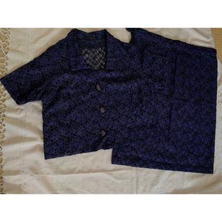 クリスチャンディオール(Christian Dior)のツーピース 紺色+紫 総レース 美品(スーツ)