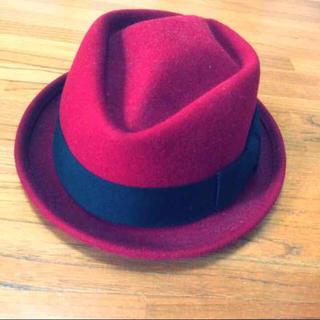 マウジー(moussy)のmoussy 赤 レッド ハット 帽子 (ハット)