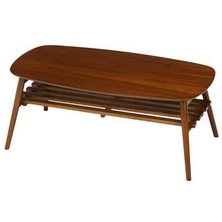 不二貿易(Fujiboeki) ローテーブル ミディアムブラウン (ローテーブル)