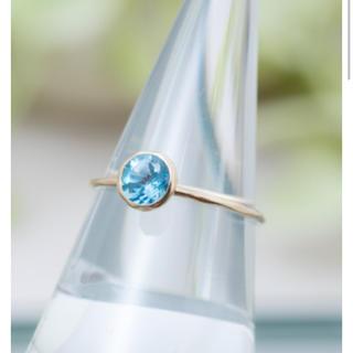 Ame blanche K10YG ブルートパーズ リング ピンキーリング(リング(指輪))