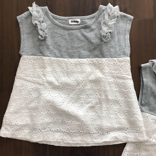 シマムラ(しまむら)の肩フリルTシャツ  サイズ100cm(Tシャツ/カットソー)