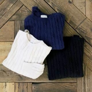 ハグオーワー(Hug O War)のハグオーワー コットンケーブル編みセーター(ニット/セーター)