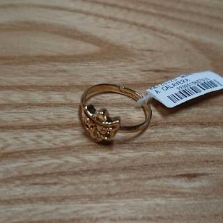 ゴールド色スカルモチーフリング 新品未使用(リング(指輪))