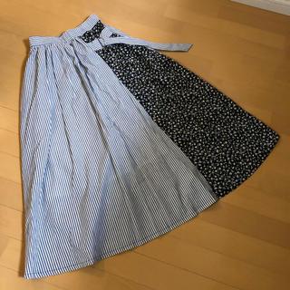 フレイアイディー(FRAY I.D)のタグ付き重ね着風♡マキシスカート(ロングスカート)