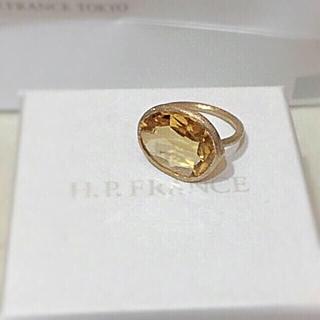 アッシュペーフランス(H.P.FRANCE)の【最終価格】新品 h.p.france シトリンリング アッシュペーフランス (リング(指輪))
