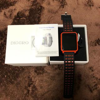 スマートウォッチ DIGGRO N88 オレンジ(腕時計(デジタル))
