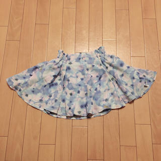 ジーユー(GU)のスカート 花柄(スカート)