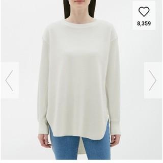 ジーユー(GU)の新品 ハニカムロングスリーブT  (Tシャツ(長袖/七分))