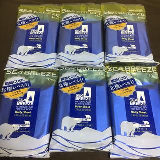 SEA BREEZE - 【6袋】シーブリーズ ボディシート シトラスシャーベット 10枚入り