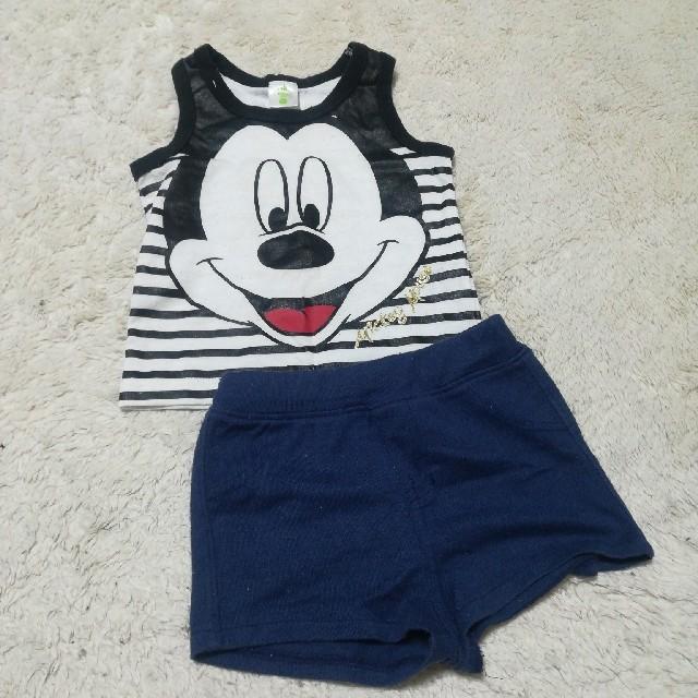 Disney(ディズニー)のミッキー セットアップ キッズ/ベビー/マタニティのベビー服(~85cm)(タンクトップ/キャミソール)の商品写真