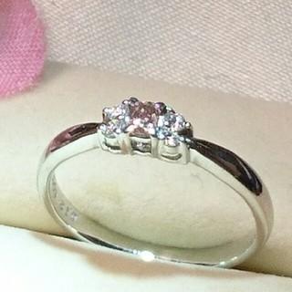 クローバー様専用♪ピンクダイヤモンドリング(リング(指輪))