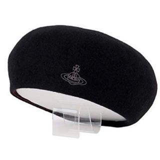 ヴィヴィアンウエストウッド(Vivienne Westwood)のヴィヴィアンウエストウッド ベレー帽 黒(ハンチング/ベレー帽)