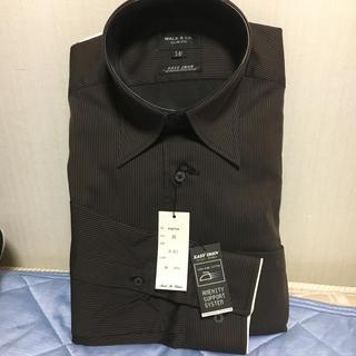 メイルアンドコー(MALE&Co.)の新品・未使用☆形態安定 茶色ストライプシャツ(シャツ)