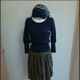 ヴィヴィアンウエストウッド(Vivienne Westwood)のvivienneベレー帽(ハンチング/ベレー帽)