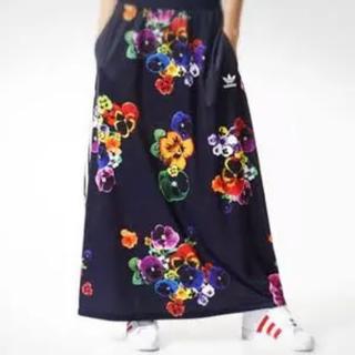 アディダス(adidas)のadidas originals アディダス マキシスカート ♡ パンジー柄(ロングスカート)