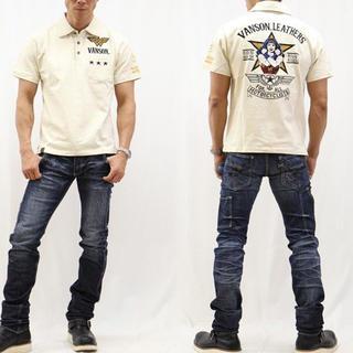 バンソン(VANSON)のVANSON×DC  バンソン コラボ 半袖ポロシャツ ナチュラル L 新品 (ポロシャツ)