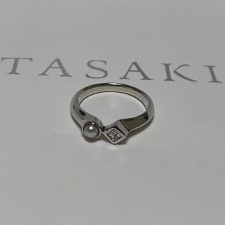 タサキ(TASAKI)のタサキ  M/G  パール×0.14ctダイヤ  リング  新品同様(リング(指輪))