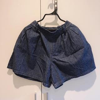 ジーユー(GU)のGU デニム生地 ショートパンツ 150cm (スカート)