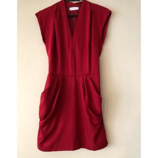 d5bbb38c10431 ボルニー(BORNY)のボルニー ワンピース 赤 ドレス(ひざ丈ワンピース)