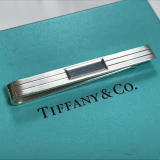 ティファニー(Tiffany & Co.)のティファニー 鏡面ストライプ ネクタイピン タイピン タイバー シルバー(ネクタイピン)