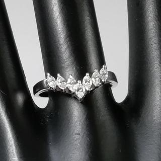 タサキ(TASAKI)の極美品 TASAKI プラチナ V字 ダイヤモンド リング TH73(リング(指輪))