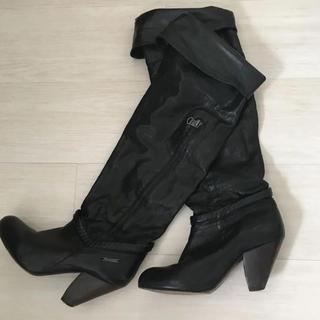 ディーゼル(DIESEL)のDIESEL ディーゼル ニーハイブーツ ブラック 36(ブーツ)