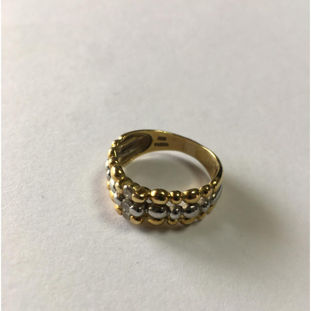 ダイヤモンドリング k18  PT900 指輪 ダイヤモンド0.16  14号 レディースのアクセサリー(リング(指輪))の商品写真