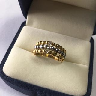 ダイヤモンドリング k18  PT900 指輪 ダイヤモンド0.16  14号(リング(指輪))