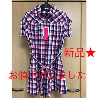 【新品】ANITA ARENBERGのギンガムチェックシャツワンピース