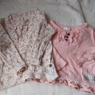 ビケット(Biquette)のお取り置き ビケット 90 トップス 2枚 ピンク 花柄 (Tシャツ/カットソー)