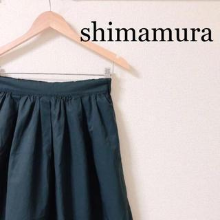 シマムラ(しまむら)のしまむら グリーン フレアスカート(ひざ丈スカート)
