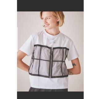 アメリヴィンテージ(Ameri VINTAGE)のAMERI 別注チュールドッキングTシャツ ブラック 新品(Tシャツ(半袖/袖なし))