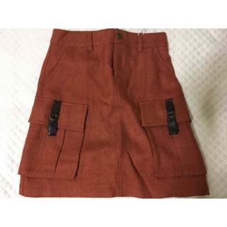 ベルメゾン(ベルメゾン)の未使用品 ベルメゾン千趣会 赤茶色スカート W61ーH89(ミニスカート)
