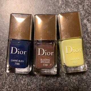 クリスチャンディオール(Christian Dior)のDior ネイル三色セット(マニキュア)