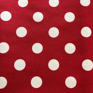 赤に水玉  110×100cm(生地/糸)