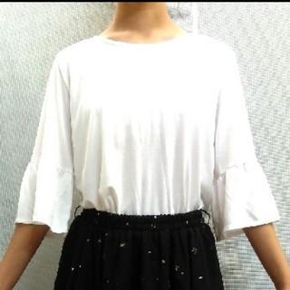 シマムラ(しまむら)の袖フレアカットソー(カットソー(半袖/袖なし))