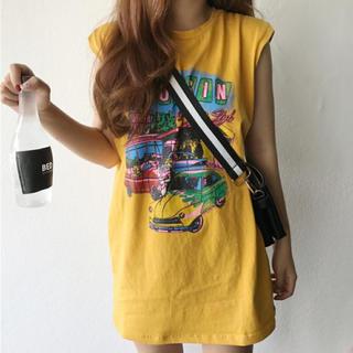 Tシャツ ノースリーブ タンクトップ チュニック(Tシャツ(半袖/袖なし))