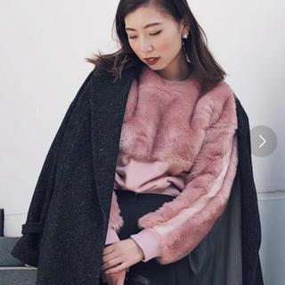 アメリヴィンテージ(Ameri VINTAGE)のAMERI vintage ピンク ファー ニット(ニット/セーター)