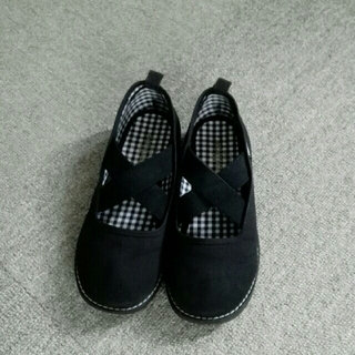 ファミリア(familiar)のファミリア 靴 ブラック19センチ(スリッポン)