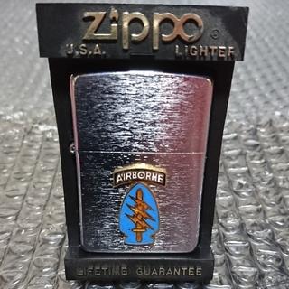 ジッポー(ZIPPO)の94年製ZIPPO グリーンベレータブ メタル貼り(タバコグッズ)