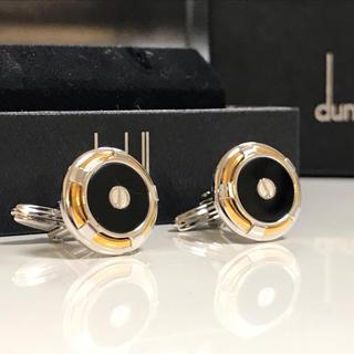 Dunhill - 美品 ダンヒル オニキス シルバー ゴールド カフリンクス カフス