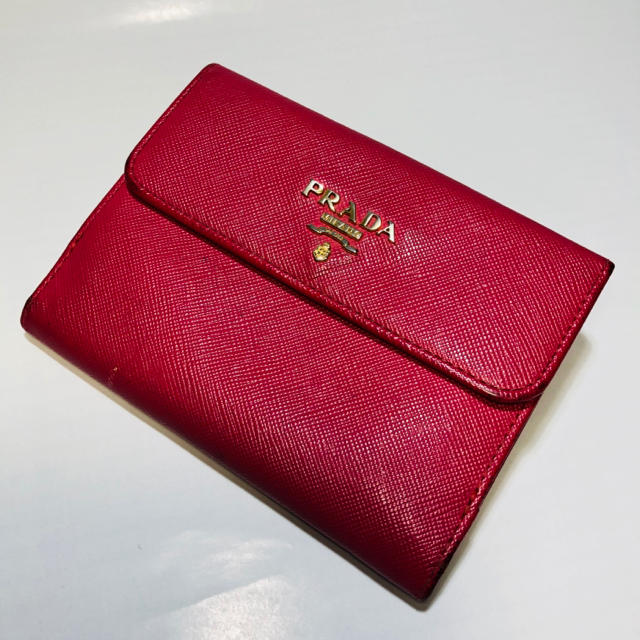 a259cdaeff30 PRADA(プラダ)のPRADA プラダ ピンク かわいい サフィアーノ 二つ折り財布 サイフ 女性 レディース