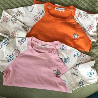 サンカンシオン(3can4on)の3can4on 90長袖Tシャツ 2枚 男女兼用 ロンT(Tシャツ/カットソー)