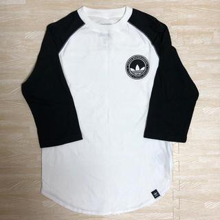 アディダス(adidas)のアディダスオリジナルス Tシャツ白×黒(Tシャツ/カットソー(半袖/袖なし))