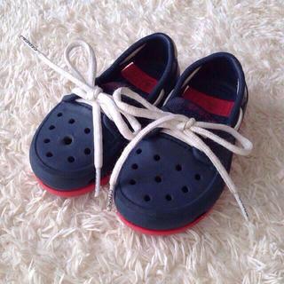 クロックス(crocs)の【取置き】crocs デッキシューズ(スニーカー)