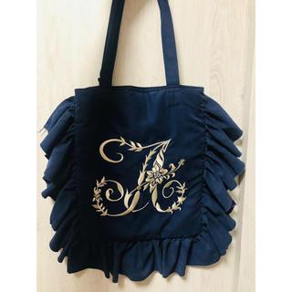 ジェーンマープル(JaneMarple)のイニシャル刺繍バッグ A4サイズ(トートバッグ)